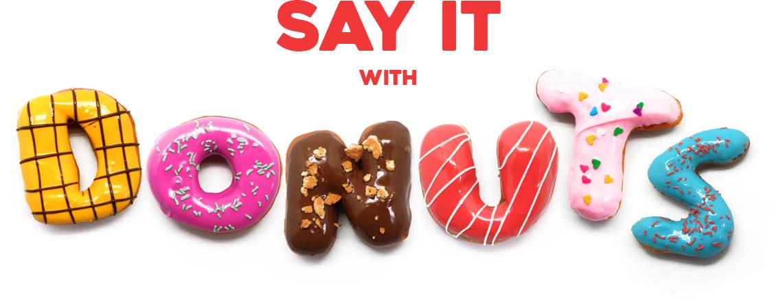 Wondernuts - say it with alphabet donuts, donat huruf